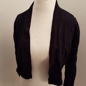 Black cropped cardigan